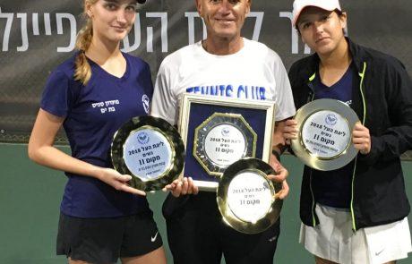 הישג מרשים למועדון הטניס השני של בת ים:מקום שני בגמר אליפות המדינה
