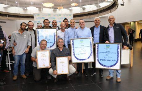 """ארבע מתוך שש: הרשויות ביהודה ושומרון זכו היום ברוב דגלי היופי של תחרות """"המועצה לישראל יפה"""""""