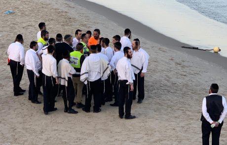 אותר ללא רוח חיים האברך שטבע בחוף הדולפינריום בתל אביב