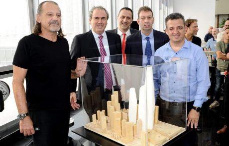 """בכירי העיר ר""""ג והבורסה משיקים את המגדל הגבוה ביותר בישראל בעלות של 5 מיליארד ש""""ח"""