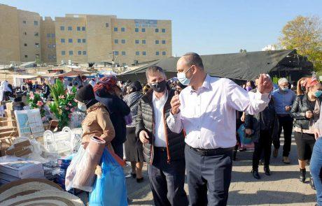 """סגן שר הבריאות וראש העיר לוד: """"המאבק לפתיחת השווקים – היה מוצדק"""""""