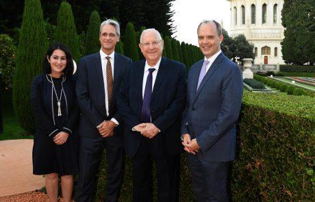 נשיא המדינה ביקר במקדש הבהאיים בחיפה לרגל ציון 200 שנה להולדת הבאב