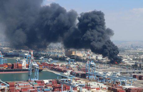 עדכון מהמשרד להגנת הסביבה: שריפה במפעל שמן תעשיות במפרץ חיפה
