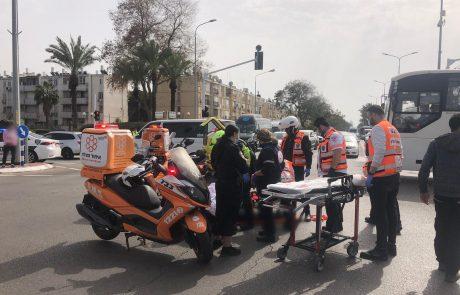 בן 10 שרכב על אופניים נפצע בינוני בתאונה