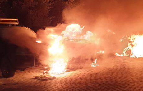 פיגוע שנאה בלוד: כלי רכב ומשאיות עלו באש בעיר